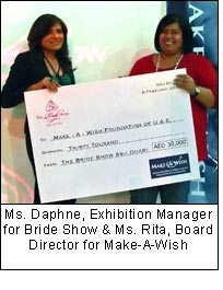 Ms. Daphne, Exhibition Manager for Bride Show & Ms. Rita, Board Director for Make-A-Wish