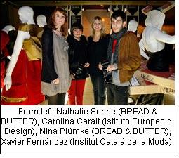 From left: Nathalie Sonne (BREAD & BUTTER), Carolina Caralt (Istituto Europeo di Design), Nina Plümke (BREAD & BUTTER), Xavier Fernàndez (Institut Català de la Moda).