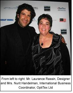 From left to right: Mr. Laurance Rassin, Designer and Mrs. Nurit Handelman, International Business Coordinator, OptiTex Ltd.