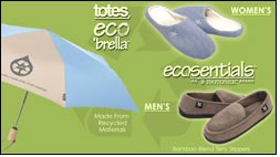 Umbrellas marketer totes ISOTONER launches ecosentials