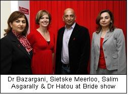 Dr Bazargani, Sietske Meerloo, Salim Asgarally & Dr Hatou at Bride show