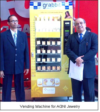 Vending Machine for AGNI Jewelry