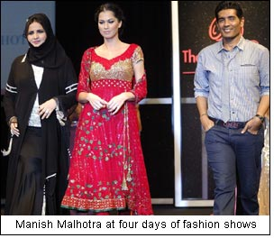 Manish Malhotra at four days of fashion shows