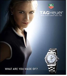 TAG Heuer to celebrate Maria Sharapova's 21st birthday