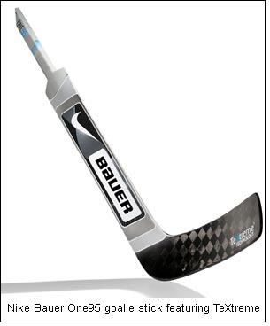 Nike Bauer One95 goalie stick featuring TeXtreme