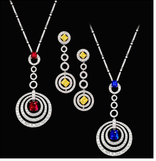 Graff From London The Jewellery House Extraordinaire Takes Delightful Aim With Its Exciting Bullseye Collection Of Jewels Offering Pendant Chains And Drop