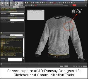 Screen capture of 3D Runway Designer 10, Sketcher and Communication Tools.