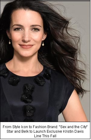 "From Style Icon to Fashion Brand: ""Sex and the City"" Star and Belk to Launch Exclusive Kristin Davis Line This Fall"