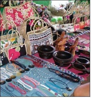 Fiji : Exotic handicrafts to adorn California Gift Show - Textile ...