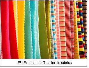 EU Ecolabelled Thai textile fabrics