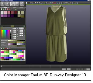 Color Manager Tool at 3D Runway Designer 10