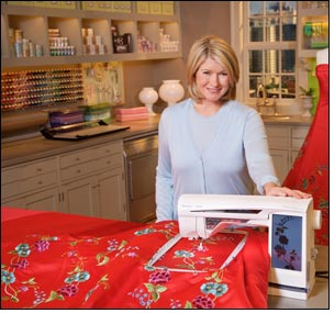 Martha Stewart Show features embroidery with Husqvarna Viking machine