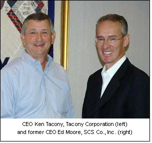 CEO Ken Tacony, Tacony Corporation (left) and former CEO Ed Moore, SCS Co., Inc. (right)