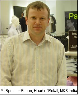 Mr Spencer Sheen, Head of Retail, M&S India