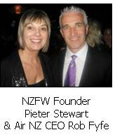 NZFW Founder Pieter Stewart & Air NZ CEO Rob Fyfe