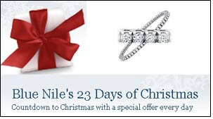 Blue Nile Daily Gem, Christmas campaign kicks off
