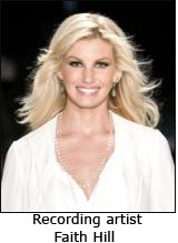 Recording artist Faith Hill