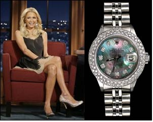United states of america paris hilton still prefers to wear rolex president fashion news for Woman celebrity watches