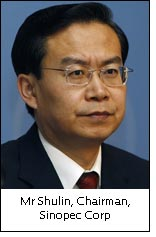 Mr Shulin, Chairman, Sinopec Corp
