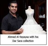 Ahmed Al Reyaysa with his Dar Sara collection