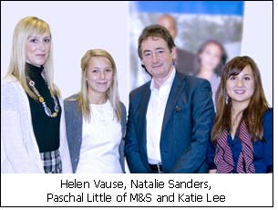 Helen Vause, Natalie Sanders, Paschal Little of M&S and Katie Lee