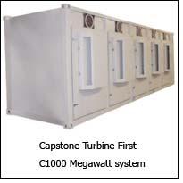 Capstone Turbine First C1000 Megawatt system