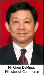 Mr Chen DeMing, Minister of Commerce
