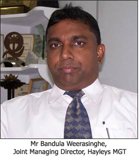 Mr Bandula Weerasinghe, Joint Managing Director, Hayleys MGT