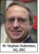 Mr Stephen Robertson, DG, BRC