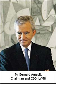 Mr Bernard Arnault, Chairman and CEO, LVMH