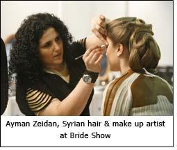 Ayman Zeidan, Syrian hair & make up artist at Bride Show