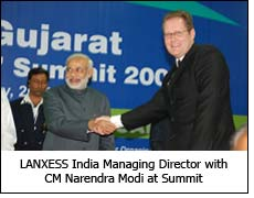 LANXESS India Managing Director with CM Narendra Modi at Summit