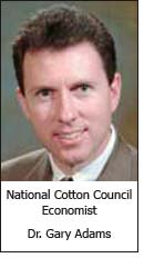National Cotton Council Economist Dr. Gary Adams