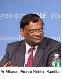 Mr Sithanen, Finance Minister, Mauritius