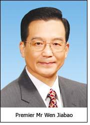 Premier Mr Wen Jiabao