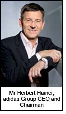Mr Herbert Hainer, adidas Group CEO and Chairman