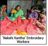 Nakshi Kantha embroidery workers