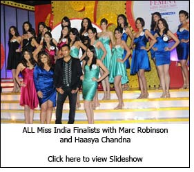 ALL Miss India Finalists with Marc Robinson and Haasya Chandna