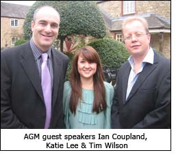 AGM guest speakers Ian Coupland, Katie Lee & Tim Wilson