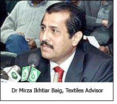 Dr Mirza Ikhtiar Baig, Textiles Advisor
