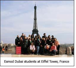 Esmod Dubai students at Eiffel Tower, France