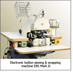 Electronic button sewing & wrapping machine EBS Mark II
