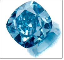 The highest price for a fancy vivid blue diamond sold at auction