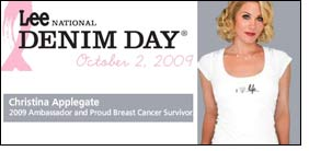 Christina Applegate joins Lee National Denim Day