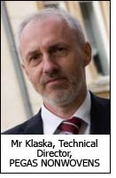 Mr Klaska, Technical Director, PEGAS NONWOVENS
