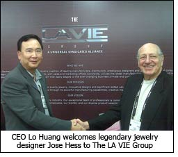 CEO Lo Huang welcomes legendary jewelry designer Jose Hess to The LA VIE Group