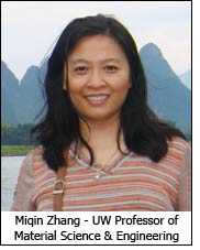 Miqin Zhang - UW Professor of Material Science & Engineering