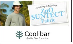 Coolibar embeds ZnO to natural fibers to create ZnO SUNTECT fabric