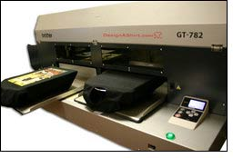DesignAShirt acquires Brother GT-782 Direct to Garment Ink Jet Printer