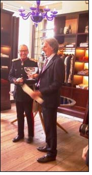 Paul Smith accepts the Queen's Award for Enterprise